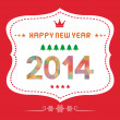 Happy new year 2014 card18 — Stock Vector