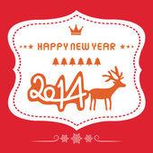 Happy new year 2014 card19 — Stock Vector