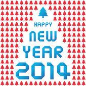 Happy new year 2014 card37 — Stock Photo