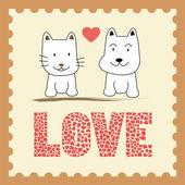 Romantic card12 — Stock Vector