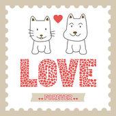 Romantic card15 — Stock Vector