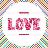 Love letter card5 — Stock Vector