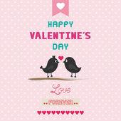 Romantic card20 — Stock Vector