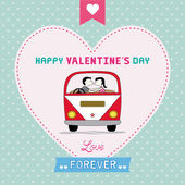 Romantic card26 — Vector de stock