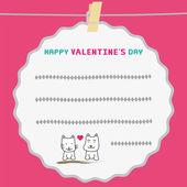 Romantic card38 — Stock Vector