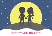 Romantic card46 — Vector de stock