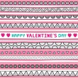 Stock Vector: Seamless valentine card1