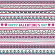 Stock Vector: Seamless valentine card2
