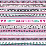 Seamless valentine card2 — Stock Vector