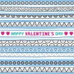 Seamless valentine card4 — Stock Vector