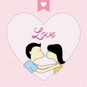 Romantic card75 — Stock Vector