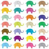 Elephants background5 — Stock Vector