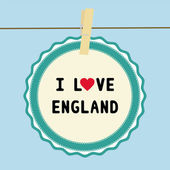 I lOVE ENGLAND2 — Stockvektor