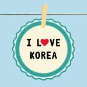 I lOVE KOREA3 — Stockvektor