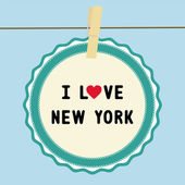 I lOVE NEW YORK4 — Stock Vector