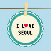 I lOVE SEOUL3 — Stock vektor