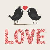 Romantic birds1 — Stock Vector