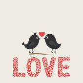Romantic birds2 — Stock Vector