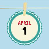 1 April calendar — Stock Vector