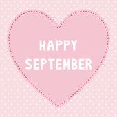 Happy September1 — Stock Vector