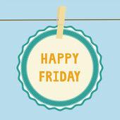 Happy Friday note1 — Stock Vector