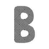 Circle pattern alphabet B — Stock Vector
