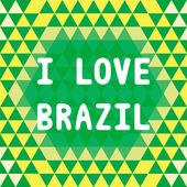 I lOVE BRAZIL2 — Stock vektor