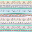 Seamless bicycle pattern background2 — Stock Vector #47828569