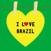 I lOVE BRAZIL5 — Vector de stock