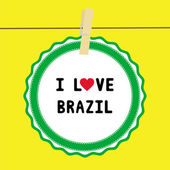 I lOVE BRAZIL4 — Vector de stock