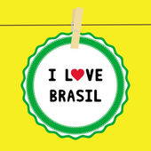 I lOVE BRASIL4 — Vector de stock