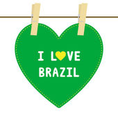 I lOVE BRAZIL6 — Vector de stock