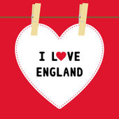 I lOVE ENGLAND5 — Vector de stock