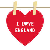 I lOVE ENGLAND6 — Vector de stock
