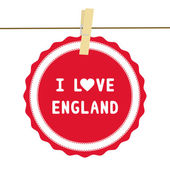 I lOVE ENGLAND4 — Vector de stock