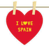 I lOVE SPAIN6 — Vector de stock