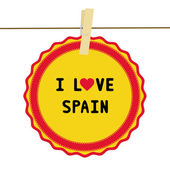 I lOVE SPAIN4 — Vector de stock