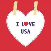 I lOVE USA 5 — Stock Vector
