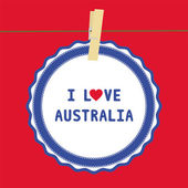 I lOVE AUSTRALIA4 — Vector de stock