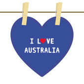 I lOVE AUSTRALIA6 — Vector de stock