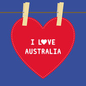 I lOVE AUSTRALIA5 — Vector de stock