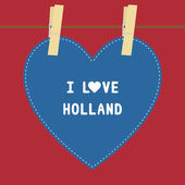 I lOVE HOLLAND5 — Stok Vektör