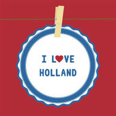 I lOVE HOLLAND4 — Stok Vektör