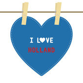 I lOVE HOLLAND6 — Stok Vektör