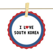 I lOVE SOUTH KOREA4 — Vector de stock