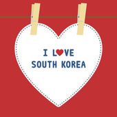 I lOVE SOUTH KOREA5 — Stok Vektör
