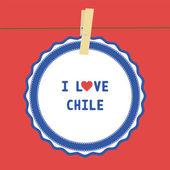 Kocham chile4 — Wektor stockowy