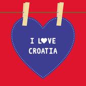 I lOVE CROATIA5 — Stock Vector