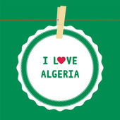 I lOVE ALGERIA4 — Stock Vector