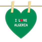 I lOVE ALGERIA6 — Stock Vector